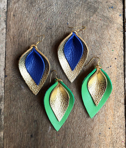katie-double-layered-leather-leaf-shaped-earrings-in-shamrock-green-and-metallic-gold