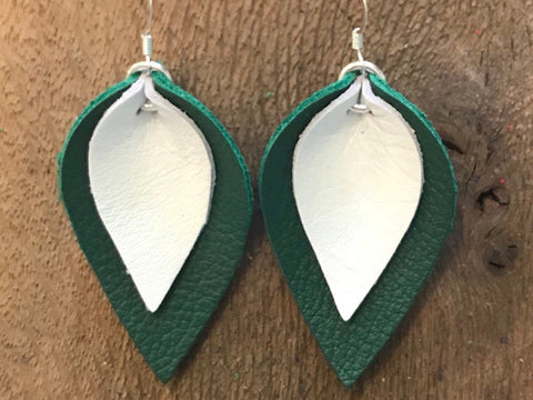 katie-double-layered-leather-leaf-shaped-earrings-in-dark-green-and-white