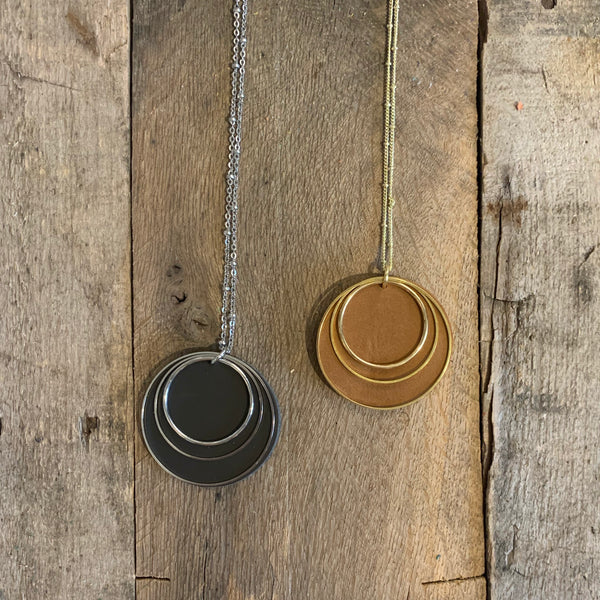 Metal And Leather Necklaces