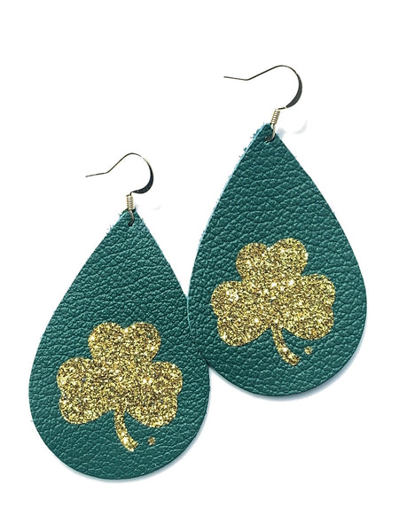 luck-of-the-irish-teardrop-leather-earrings