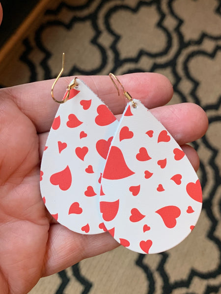hearts-white-and-red-teardrop-leather-earrings
