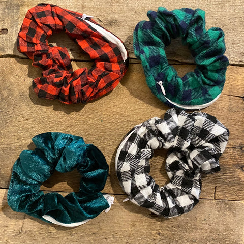 Plaid Scrunchie with Zipper