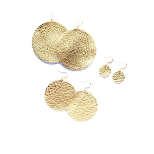 Patricia - Leather Circle Earrings