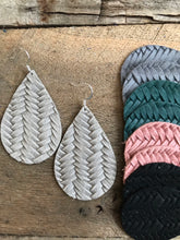 Fishtail Braid - Leather Earrings