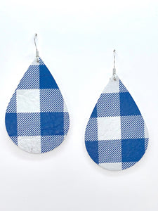 blue-and-white-buffalo-check-leather-earrings