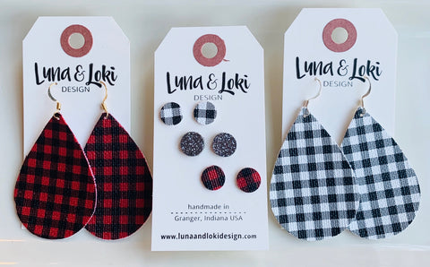 mini-buffalo-plaid-vegan-leather-teardrop-earrings