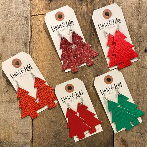 Christmas Tree Die Cut - Red and Green