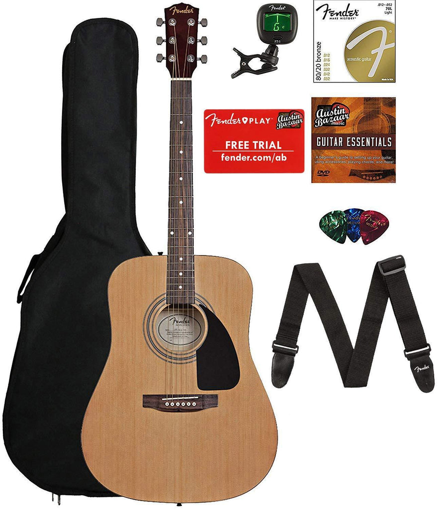 Fender FA-115 Acoustic Guitar Bundle with Gig Bag - Review