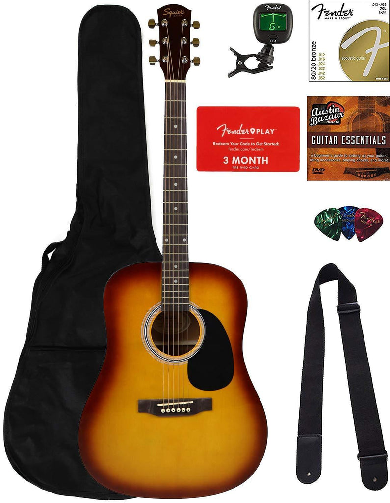 Fender Squier Dreadnought Acoustic Guitar - Review