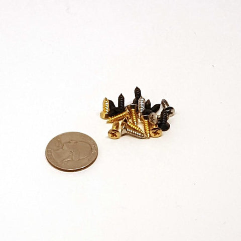 2.5X10mm Pickguard screws - 15pk |