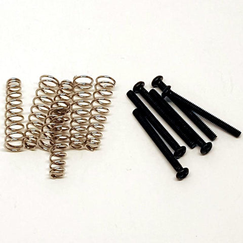 Pickup Screws & Springs for singlecoil | Black
