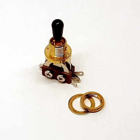 3-Way Toggle Switch | Gold