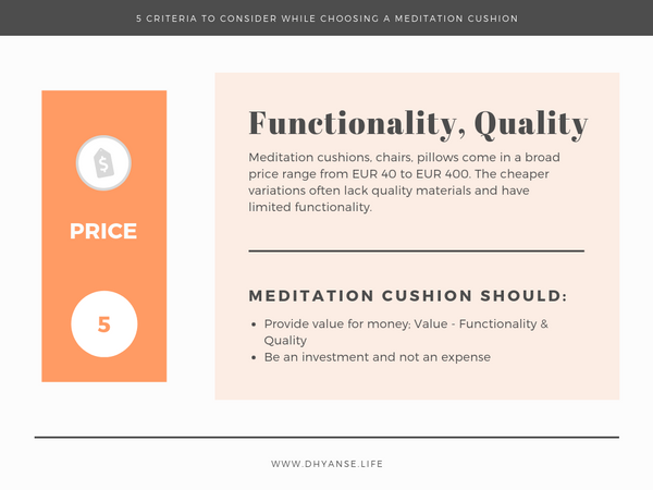 Price - Meditation Cushion