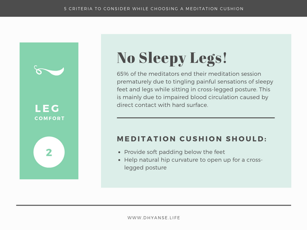 Leg Comfort - Meditation Cushion