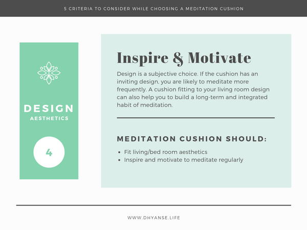 Design Aesthetics - Meditation Cushion