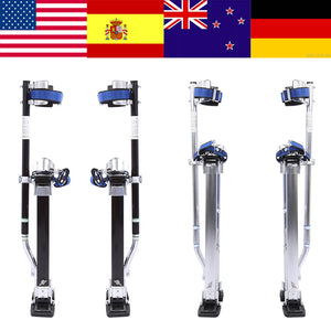 "Aluminum 24""- 40"" Professional Grade Adjustable Drywall Stilts"