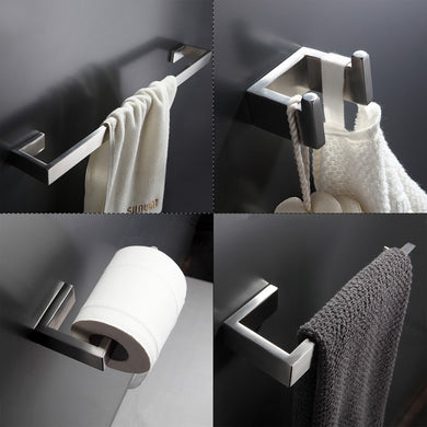 304 Stainless Steel Bathroom Accessories Set - Paruse