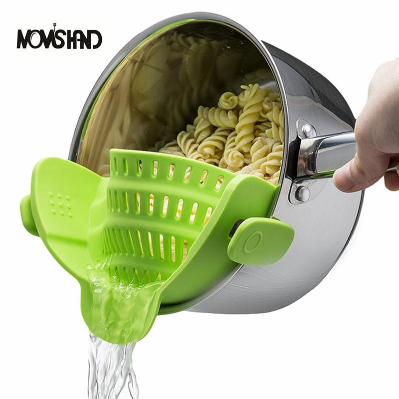 MOM'S HAND Silicone Pot Pan Bowl Funnel