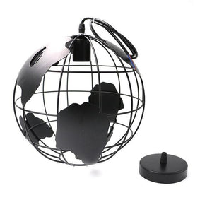 Globe Earth Iron Pendant Lamp. - Paruse