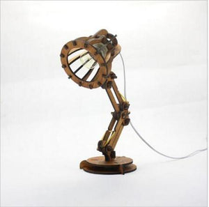 Wooden Vintage Adjustable Desk Lamp. - Paruse
