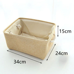 Linen Fabric Clothes Storage Box - Paruse