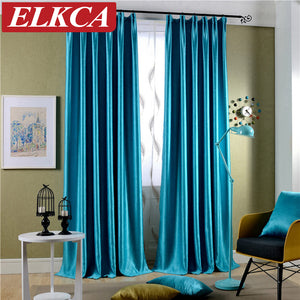 Sparkle Blue Blackout Curtains. - Paruse