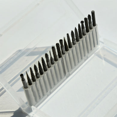 20pcs/pack Tungsten Carbide Rotary Burrs set 3*3mm For Dremel Rotary tools for metal and nonmetal carving