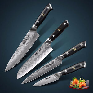 67 layers 4 pcs Japanese Santoku Kitchen Knife Set