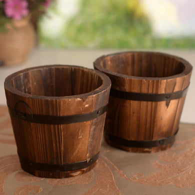 Hot 1PC Small Wooden Ornamental Flower Pot - Paruse