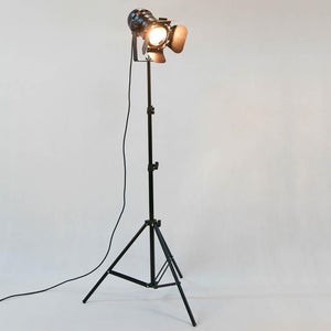 Antique Industrial Tripod Floor Lamp. - Paruse