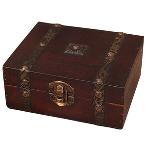 Wooden Vintage Lock Treasure Chest - Paruse
