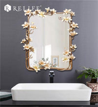 Magnolia Rectangle Wall Mirror. - Paruse