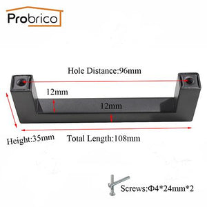 Probrico 10 PCS Black Cabinet Handle - Paruse