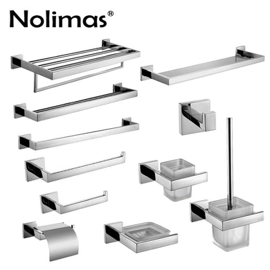 SUS 304 Stainless Steel Bathroom Hardware Set - Paruse