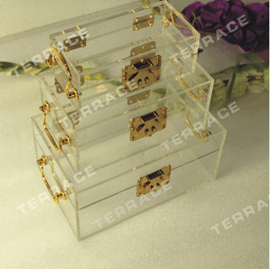 3PCS/set  Acrylic Jewelry Box ,Lucite storage unit case - Paruse