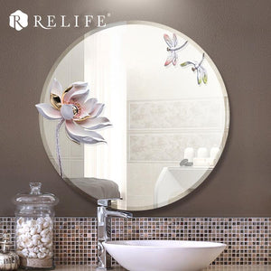 Lotus Anti-fog Bathroom Mirror. - Paruse