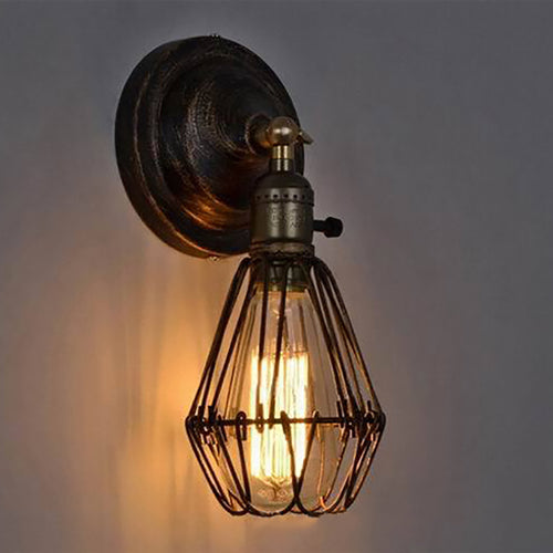 Classic Black Bulb Wire Lamp Cage