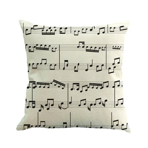 Gajjar Musical Note Painting Throw Pillow - Paruse
