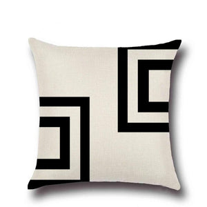 1pc Linen Geometric Line Pillow cover - Paruse