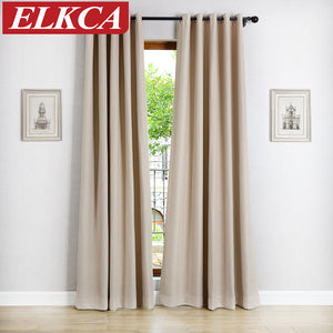 Solid Color Blackout Curtains. - Paruse