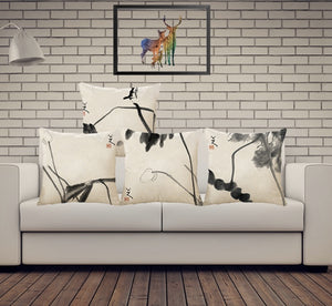 Chinese Watercolor Painting Pillow Cases - Paruse