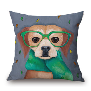 Cute Dog/ Cat/ Flamingo Decorative Pillow Covers - Paruse
