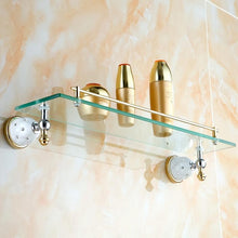 European Antique Ceramic And Gold Crystal Bathroom Accessories - Paruse