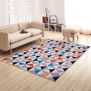 ADQKCLY 3D Geometric Printed Carpet - Paruse