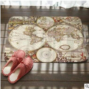 SMAVIA World Map Floor Mat - Paruse