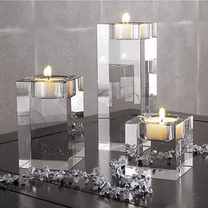 Elegant Crystal Glass Candle Stand