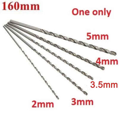 2-5mm Dia. Drill Bit Extra Long High Speed Steel Straight Shank Auger