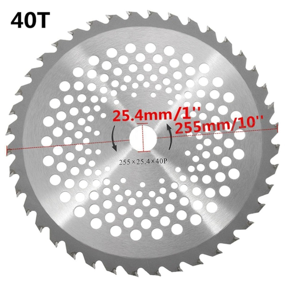 10'' 40T Teeth Brush Cutter Blade Dia.