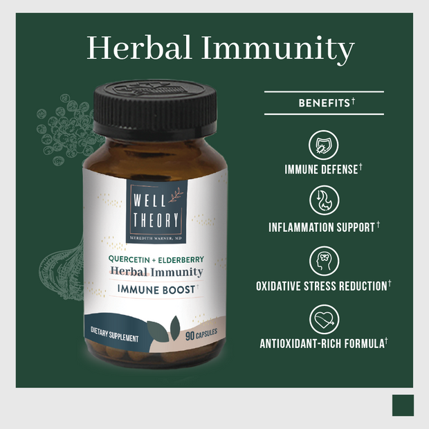 Herbal Immunity Defense With Quercetin + Elderberry