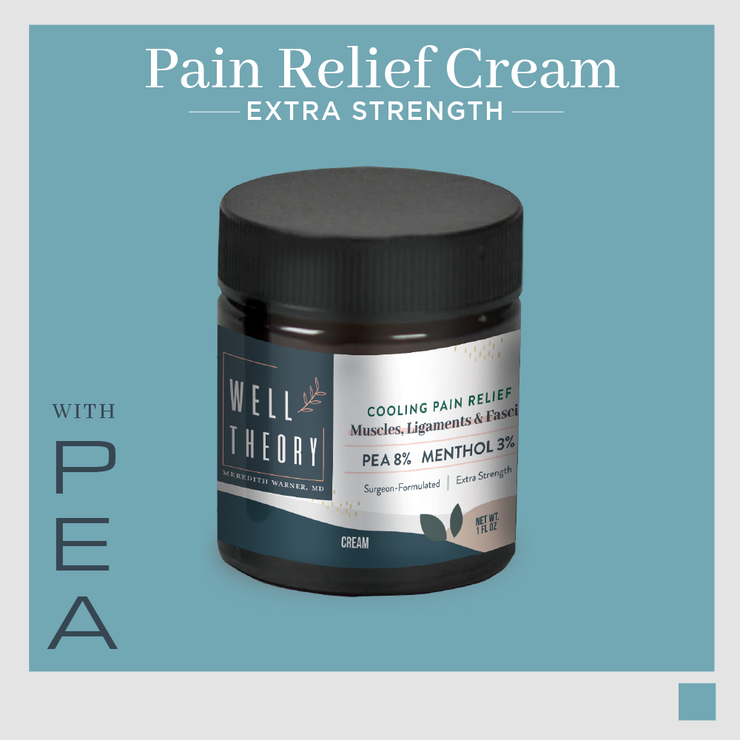 The Pain Relief + Recovery Cream  with PEA, Menthol, Turmeric & Rosehip - Extra Strength
